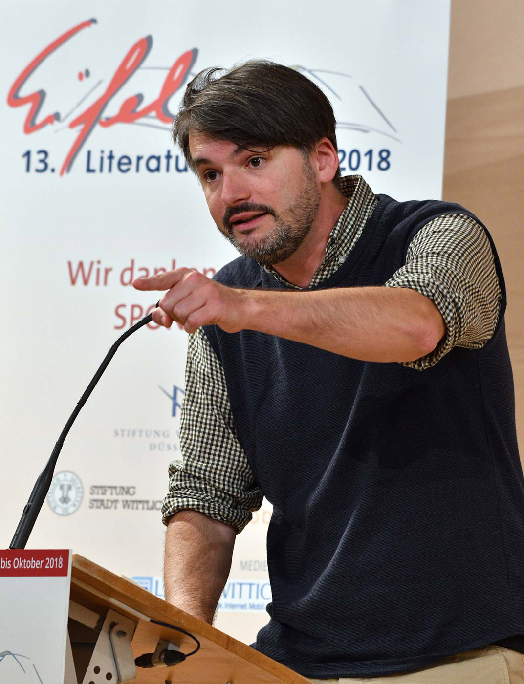 Saša Stanišić am 25. Mai 2018 in Wittlich